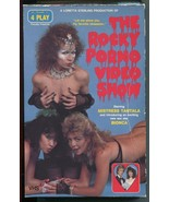Vtg 1986 Rocky Porno Video Show Big Box VHS Horror Picture Show 4 Play T... - $39.99