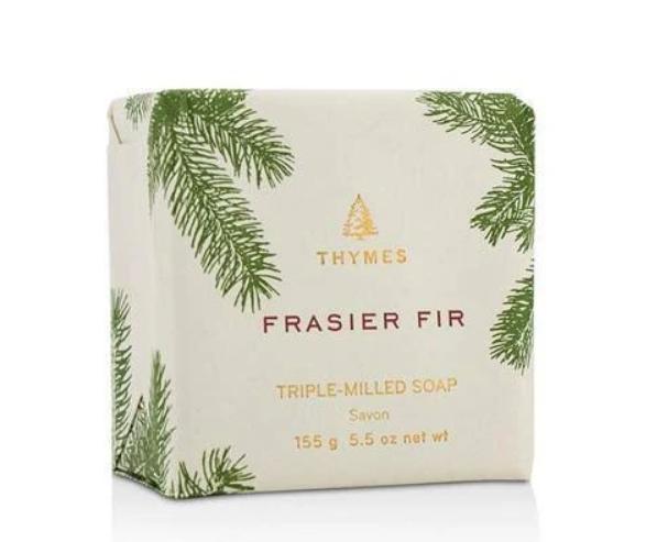 Thymes Frasier Fir Siberian Needles Sandalwood Triple Milled Bar Soap 5.5 Ounces