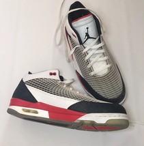 RARE Nike Air Jordan Flight Club 80s Fire Red Black Cement Sz 11.5 59958... - $59.39