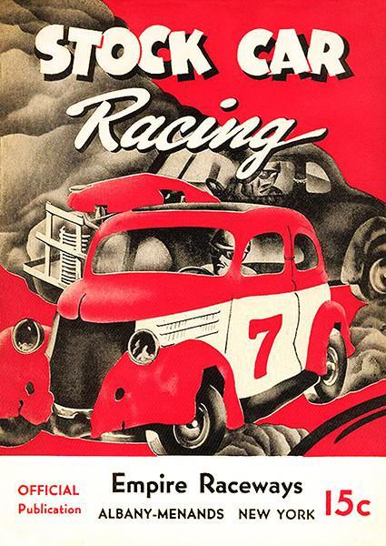 Primary image for 1950 Stock Car Racing - Empire Raceways - Albany NY - Program Cover Poster