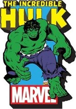 The Incredible Hulk Character Image and Name Logo 3-D Die-Cut Magnet, NE... - $5.90