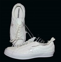 Converse One Star Winter White After Party Sparkle Glitter Ox Shoes Wm's 8.5 NWT - $66.99