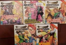 Lot of 5 AVENTURAS de VCQUERO Spanish mini comic Books (AVVA-5) - $9.00