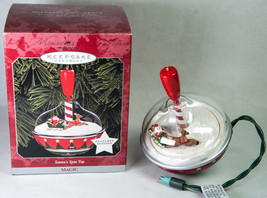 Hallmark Keepsake Ornament 1998 Santa's Spin Top Magic Motion - $15.00