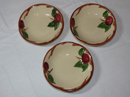 lot of 3 Franciscan Earthenware USA RED Apple Pattern Fruit or Berry Bow... - $20.78