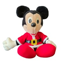 Vintage 1988  Christmas Mickey Mouse Plush in Short Santa Outfit Playsko... - $10.93