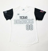 Mizuno Texas Bombers Softball Jersey Women's Small White Black Top Shirt - $35.63