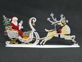 """ARTIST WILHELM SCHWEIZER GERMAN ZINNFIGUREN Santa in Sleigh (6.25""""x 2.75"""") - $130.00"""