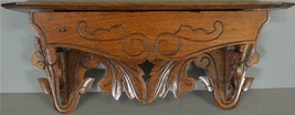 17894 Victorian Carved Clock Shelf – FREE SHIPPING - $165.00