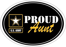 "army star logo proud aunt military 5"" magnet made in usa"