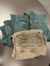 Lot 4 Men's Duluth Fire Hose Canvas Cargo Pants 36 x 32 RIPS HOLES PAINT... - $59.39