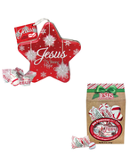 Scripture Candy, Christmas Soft Peppermint Star Tin and Gable Box Gift Set - $9.99