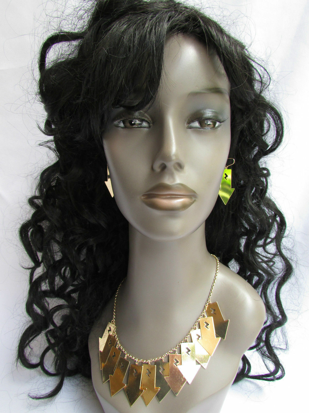 Mujer Sexy Metal Dorado Lightning Flechas Encanto Moda Joyería Collar Set image 12