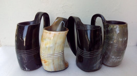 Set of FOUR Game of thrones viking drinking horn mugs Tankard for beer a... - $39.60