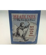 Headlines from The New York Times: World Events of 20th Century Knowledg... - $14.50