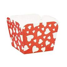 PANDA SUPERSTORE 100 Pcs Heat-Resistant Cupcake Paper Baking Cup Square Muffin C