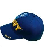 U.S. Navy Yellow Text Logo Navy Baseball Hat - £9.07 GBP