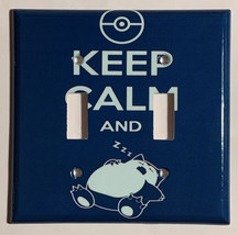 Pokemon Snorlax Calm Sleep Light Switch power Outlet Wall Cover Plate Home Decor image 2