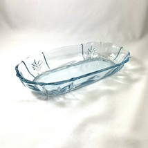 Fostoria Baroque Azure Blue Oblong Celery or Pickle Dish Elegant Depression - $49.49