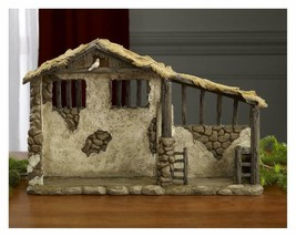 Three Kings Gifts Christmas Nativity Lighted Stable Manger for 10 inch S... - $97.72