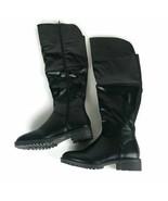 Charming Lady Classic Elastic Calf Riding Boots B506 Womens Size US 8 Black - $29.40