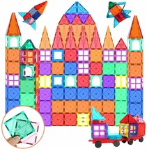 Kids Magnet Toys Magnetic Building Blocks, 100pcs 3D Magnet Building Til... - $49.49