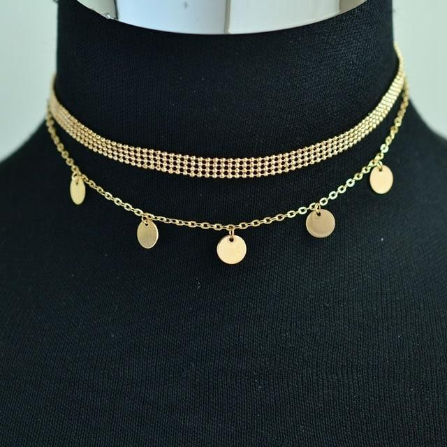 H:HYDE Fashion Jewelry Accessories Luxury Rhinestone Choker Necklace for Women T
