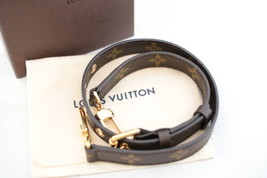 LOUIS VUITTON Monogram Leather Brown Shoulder Strap 64-74cm LV Auth 8000 - $398.00