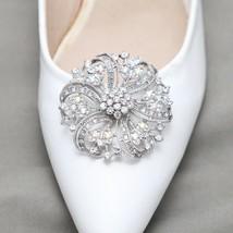 A Pair Aurora Borealis Rhinestone Crystal Wedding Sandal Flat Round Shoe... - $17.75