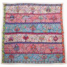 Hermes Carre 140 Shawl Stole Scarf Au Pays Des Oiseaux Fleurs Cashmere Silk Auth - $1,085.13