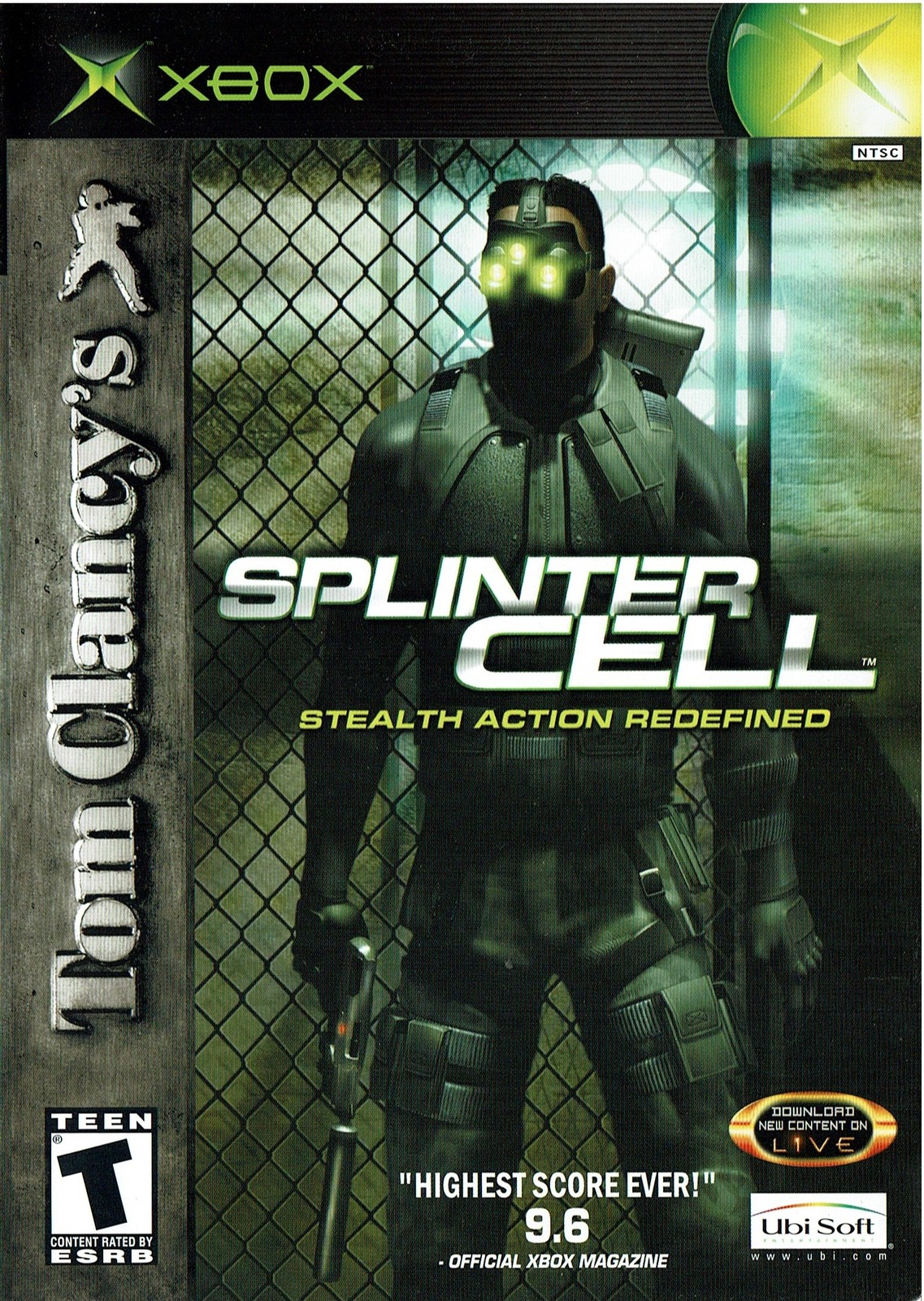 Tom Clancy's Splinter Cell, Xbox, SCEL-0382, Complete, Very Good Condition