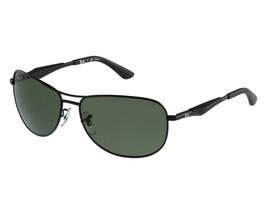 Nuevo Ray Ban RB 3519 006 / 9A Mate Negro W/ Verde Lentes Polarizados 59mm - $176.20
