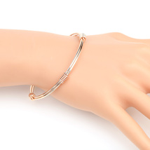 UE- Stylish Rose Tone Designer Bangle Bracelet With Contemporary Design - $13.99