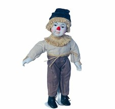 Seymour Mann Wizard oz Doll porcelain vtg Figurine vtg Scarecrow storybo... - $38.65