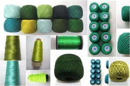 Grün Gewinde Garn Häkeln Sticken Stricken Spitze Rand DIY Viskose Baumwolle - $1.57+