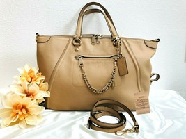 Coach Prairie Satchel Convertible Pebbled Leather in Beige - Style 3436... - $138.59