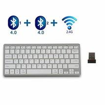 Bluetooth Keyboard,bluebyte Multi device Wireless Keyboard,Fast Connect ... - $31.90