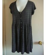 Women's Dress Size M Black Cap Sleeve Mini, Drop Waist H&M  - $14.85