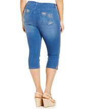 Style & Co. Women's Tummy Control Studded Star Bling Pocket Capri Jeans,... - $18.13