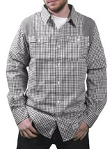 Orisue Black White Gingham Pittsburgh Long Sleeve Woven Button Down Up Shirt NWT image 1