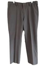 Louis Rafael Tailored Gray Plaid Tapered Dress Pants Slacks Trousers 36x32 - $19.79