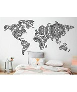 Wall Sticker Mandala World Map Yoga Vinyl Art Pattern Home Decoration De... - $16.82+