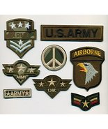 Military 8 Patch Collection Embroidered Patch Shipped from USA - $17.33