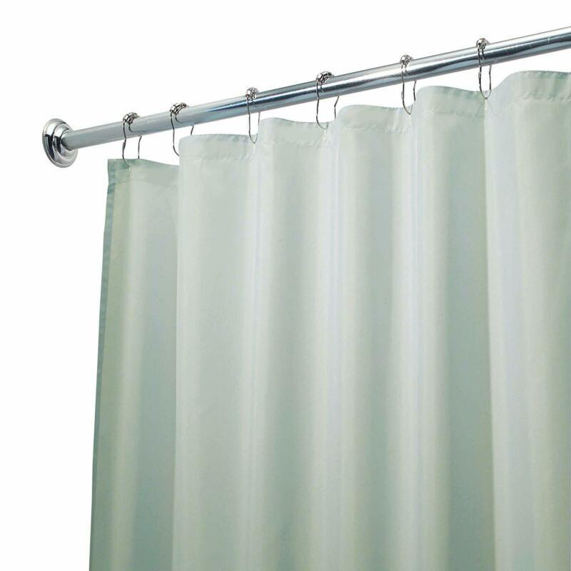 Interdesign Fabric Shower Curtain, Mold-And Mildew-Resistant Water-Repellent Bat