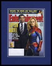 Captain Marvel Framed 11x14 ORIGINAL 2019 Entertainment Weekly Cover Bri... - $22.55