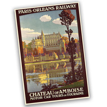 Paris-Orleans Railway Motor Car Tours Reproduction Poster - 2 Sizes Avai... - $19.95
