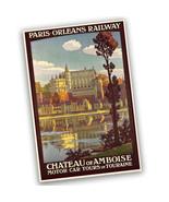 Paris-Orleans Railway Motor Car Tours Reproduction Poster - 2 Sizes Avai... - $19.95