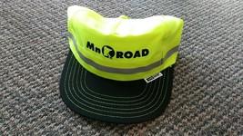 Vintage MN road Minnesota hat Head Lites vise-mat neon yellow green refl... - $9.99
