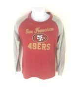 SF 49ers Men's L/S T-shirt Red Gray S - $14.84