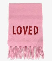 NEW/AUTHENTIC Gucci Sequin Loved Silk Cashmere Blend Scarf, Pink - $450.00